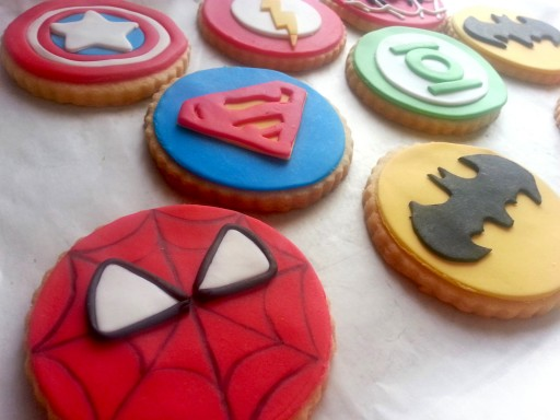 Galletas decoradas Superheroes